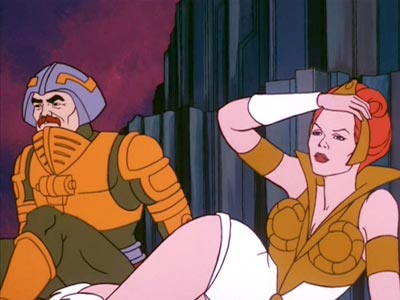 Teela and Man-At-Arms on the ground