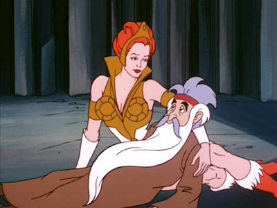 Teela and Zagraz on the ground