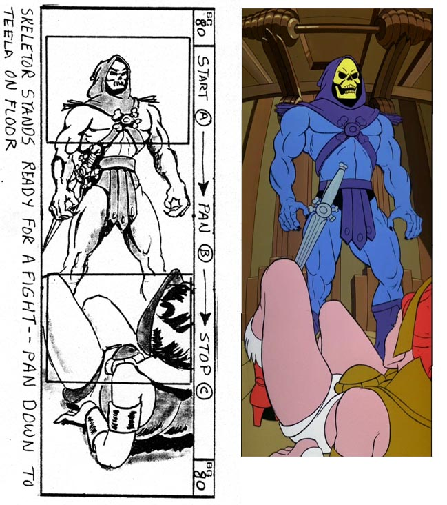 Upshot of Skeletor with Teela on the floor