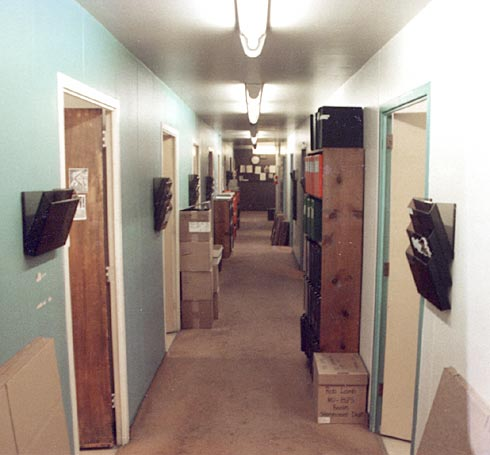 Filmation Studios 2nd floor B wing - storyboard dept on moving day