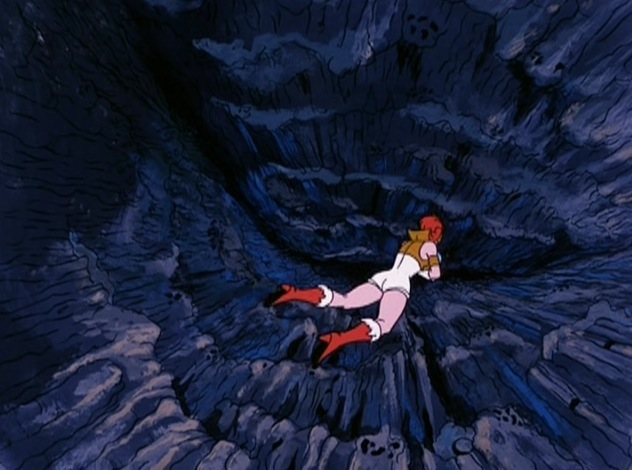 Teela falls into the Abyss