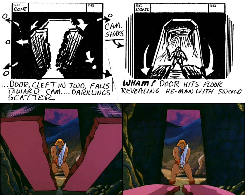 Shokoti storyboard and final art